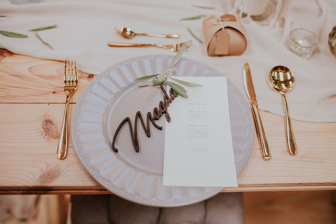 czekoladowe winietki na wesele