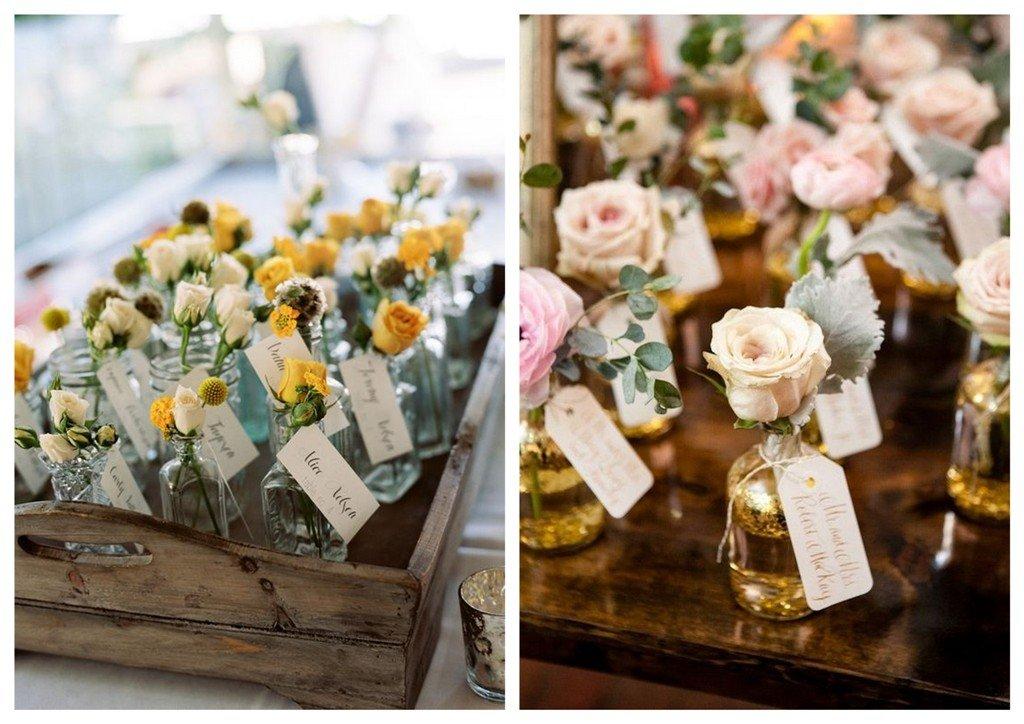 kwiatki prezenty dla gości weselnych
