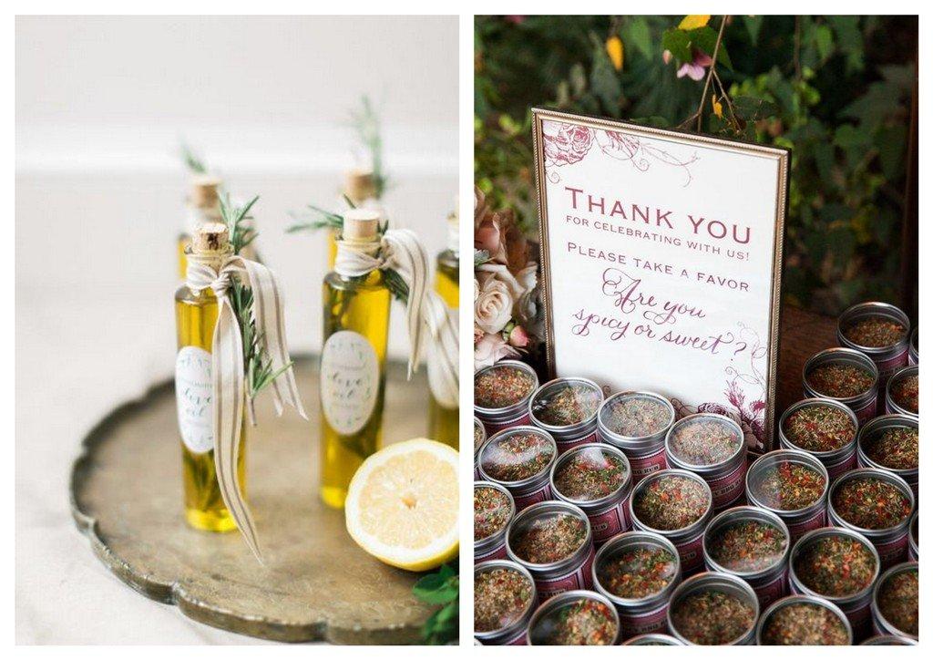 oliwy przyprawy prezenty dla gości weselnych