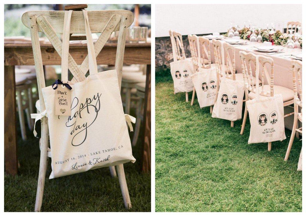 prezenty dla gości weselnych bawełniane torby