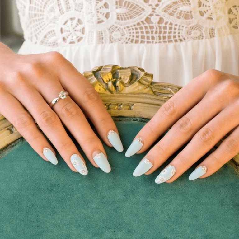 stylizacje paznokci dla Panny Młodej - zieleń