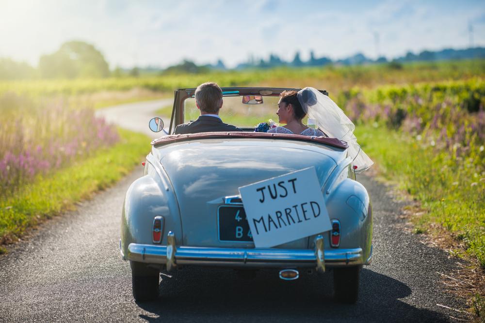 ślubny samochód retro - zdjęcie 7
