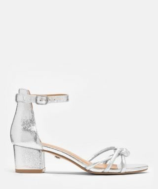 Srebrne buty ślubne lustrzane