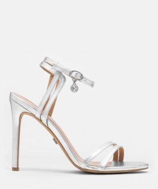 Srebrne sandały ślubne
