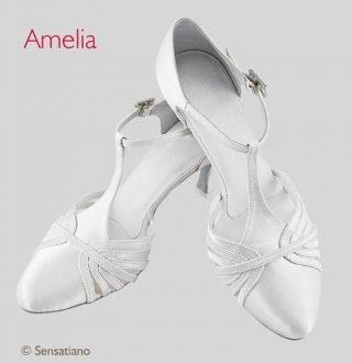 Srebrne buty ślubne szpilki