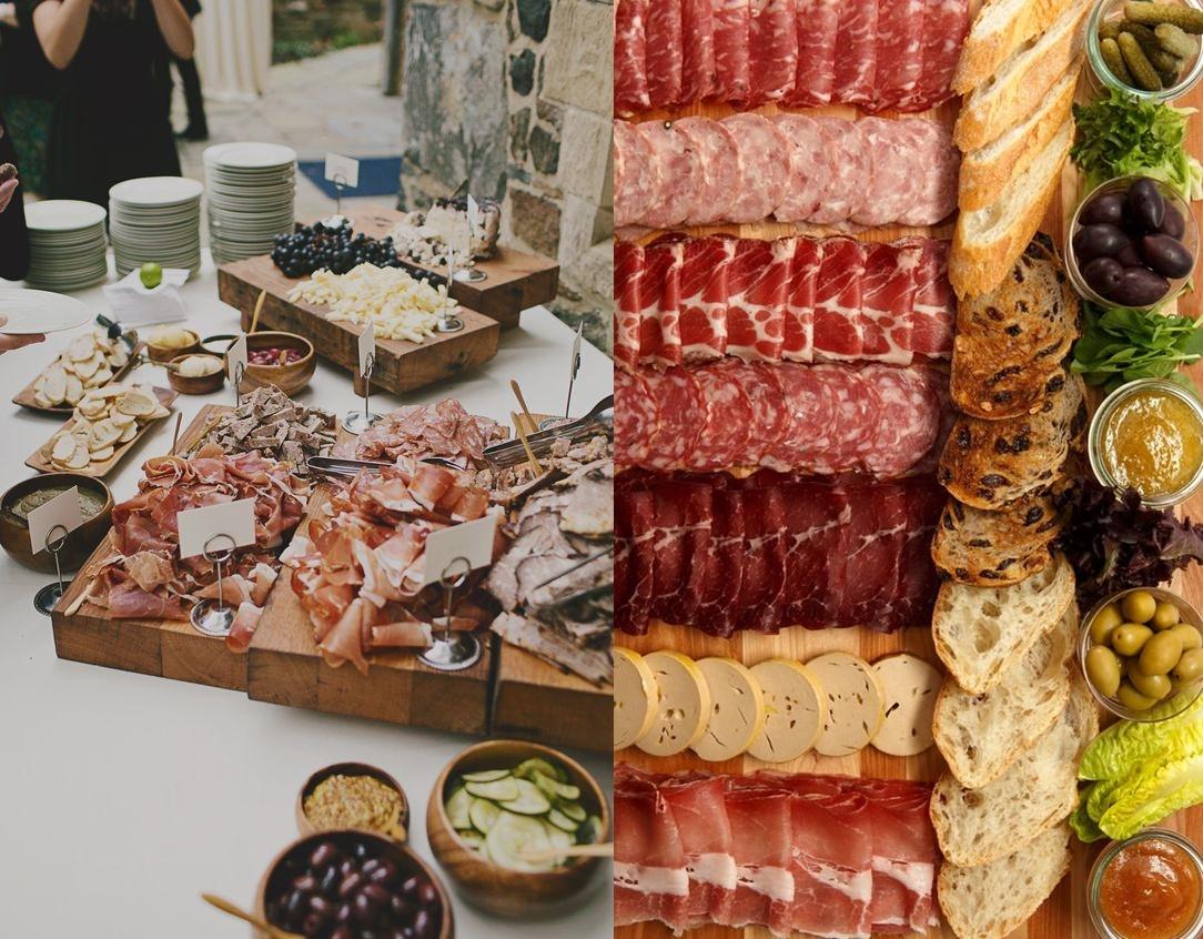 Stół tematyczny na weselu - z wędlinami -zdjęcie 1
