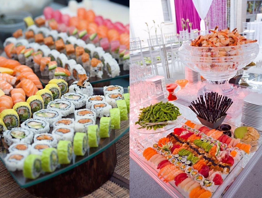 tół tematyczny na weselu - sushi -zdjęcie 8