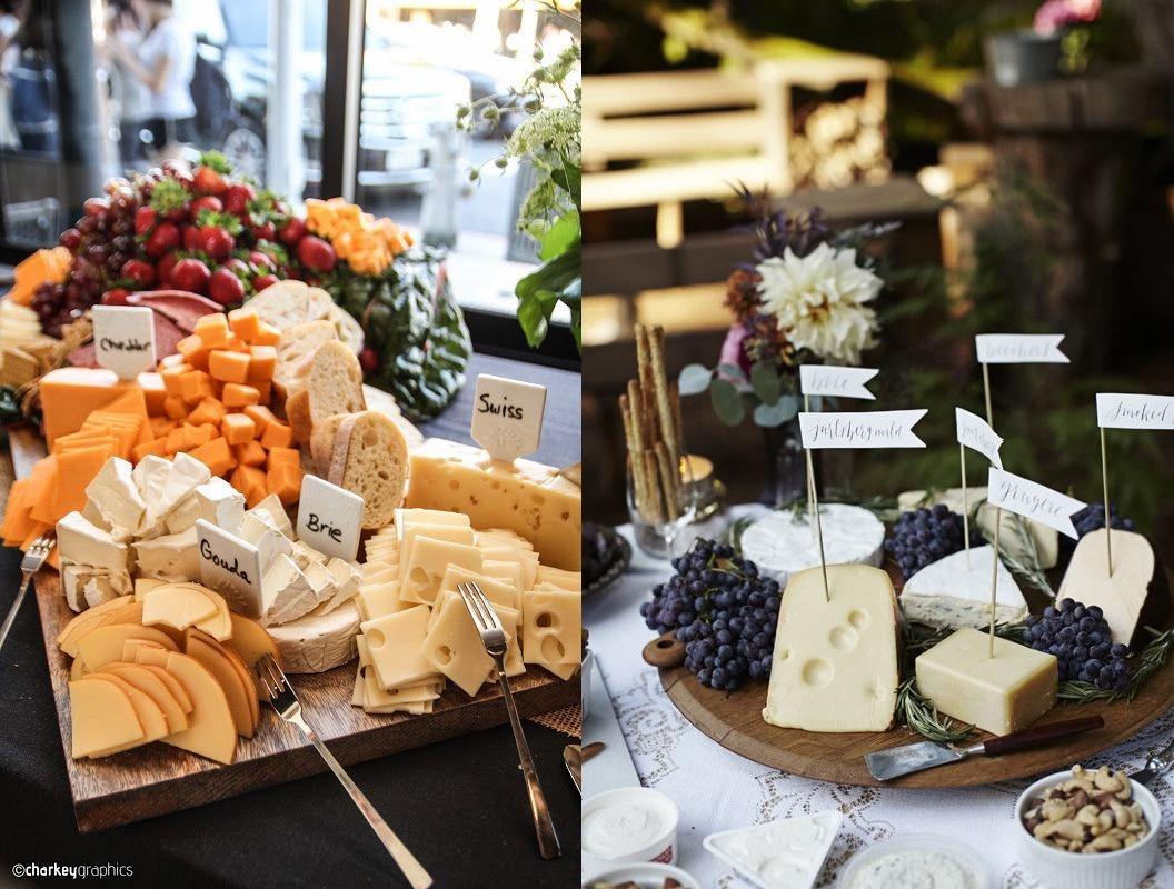 Stół tematyczny na weselu - sery -zdjęcie 9