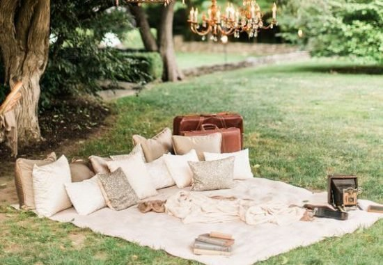Strefa chilloutu na weselu