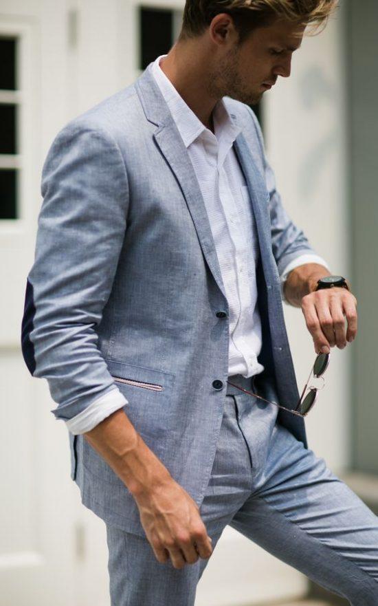Strój Pana Młodego na poprawiny - szary garnitur