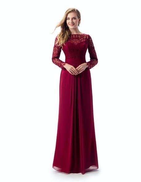 bordowa sukienka dla świadkowej