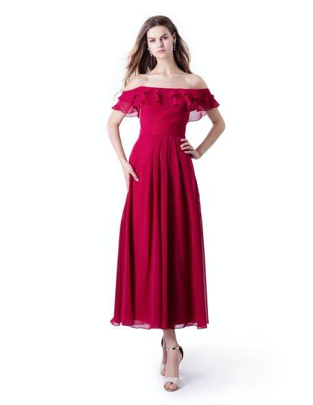 czerwona sukienka dla świadkowej