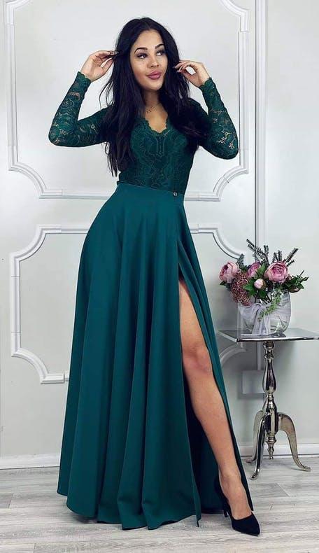 zielona sukienka dla świadkowej
