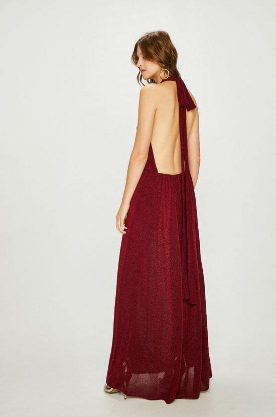 Długa sukienka na wesele z odkrytymi plecami