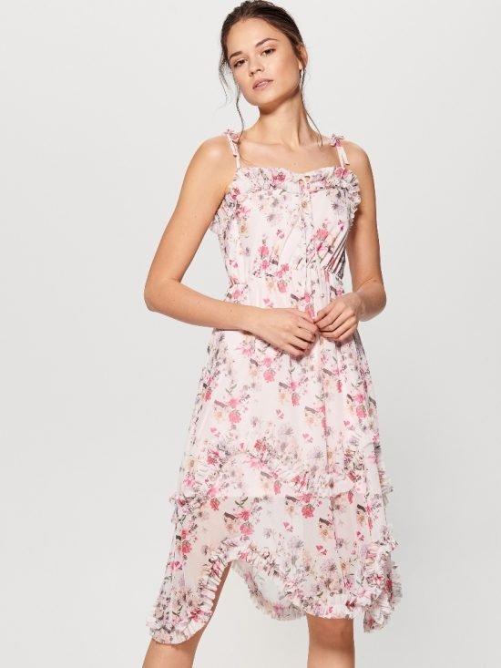 Sukienka na wesele do 100 zł w kwiatki