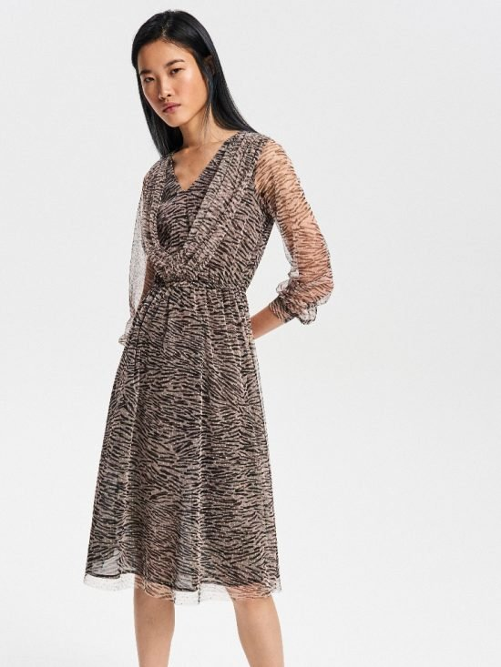 Sukienka na wesele do 100 zł z długim rękawem