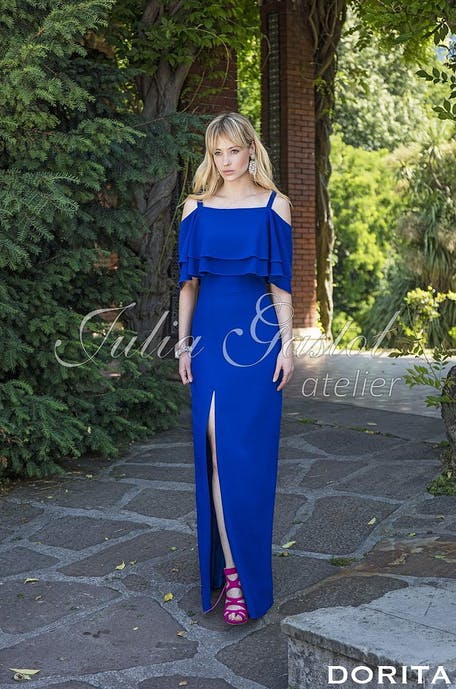niebieskie sukienki na wesele