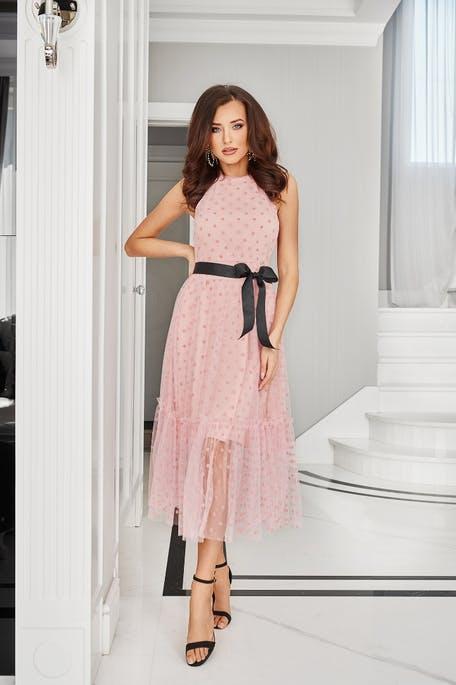 sukienka na wesele midi za kolano