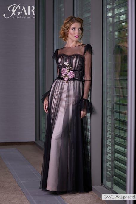 sukienka na wesele z długimi rękawami