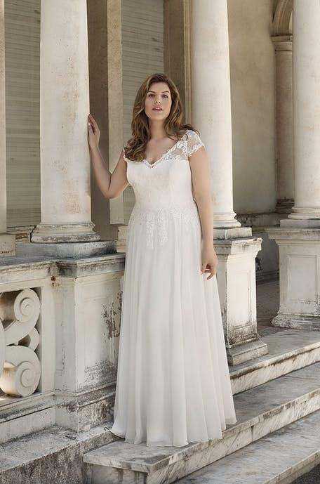 Sukienki boho plus size na ślub cywilny