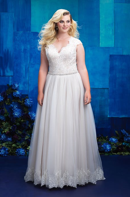 Sukienki maxi plus size na ślub cywilny