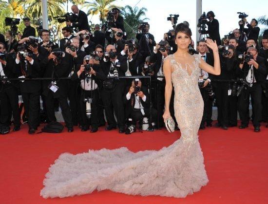 Suknie z czerwonego dywanu Cannes - Eva Longoria