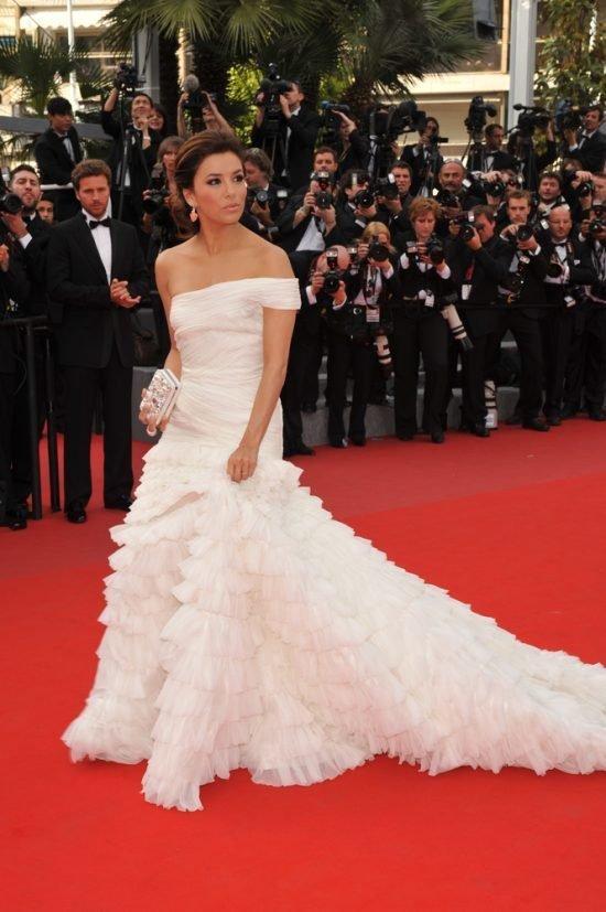Suknie z czerwonego dywanu Cannes - Eva Longoria, Emilio Pucci