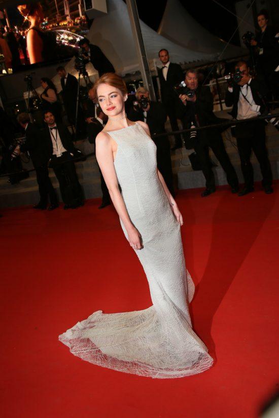 Suknie z czerwonego dywanu Cannes - Emma Stone