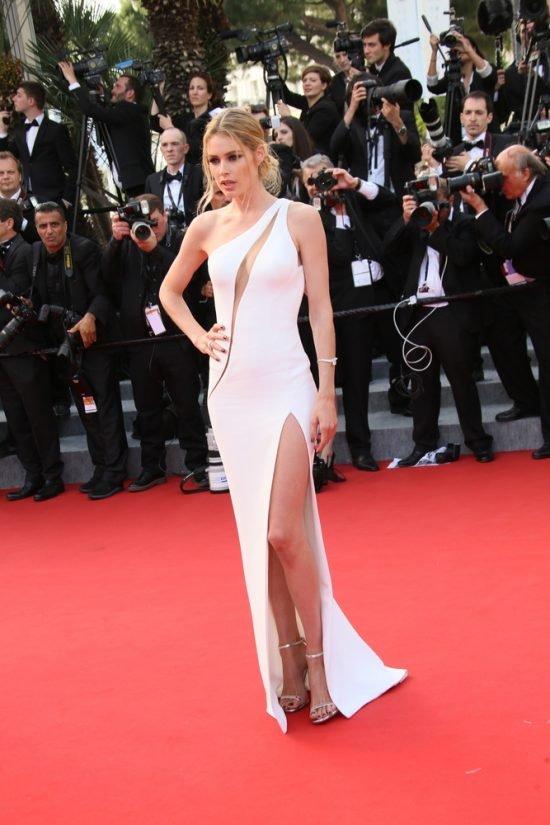 Suknie z czerwonego dywanu Cannes - Doutzen Kroes