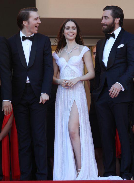 Suknie z czerwonego dywanu Cannes - Lily Collins
