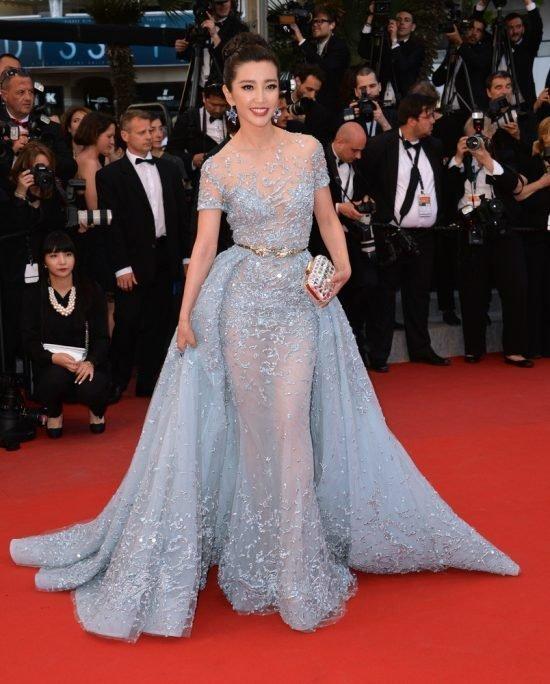 Suknie z czerwonego dywanu Cannes - Li Bingbing