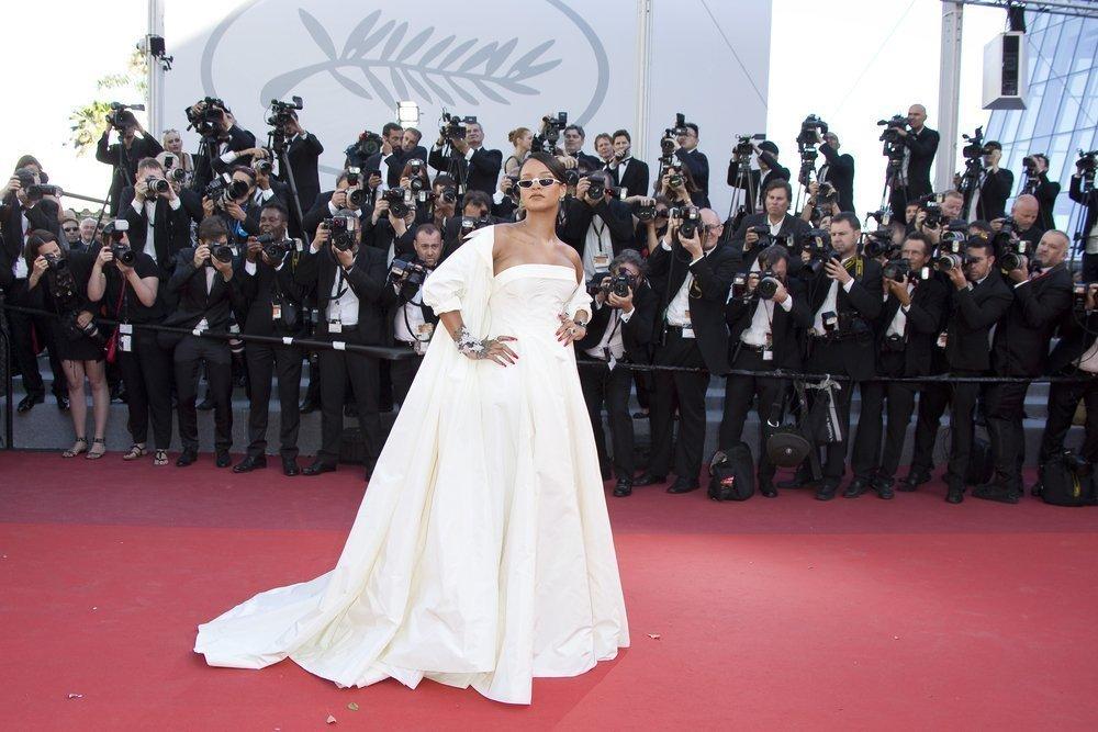 Suknie z czerwonego dywanu Cannes - Rihanna
