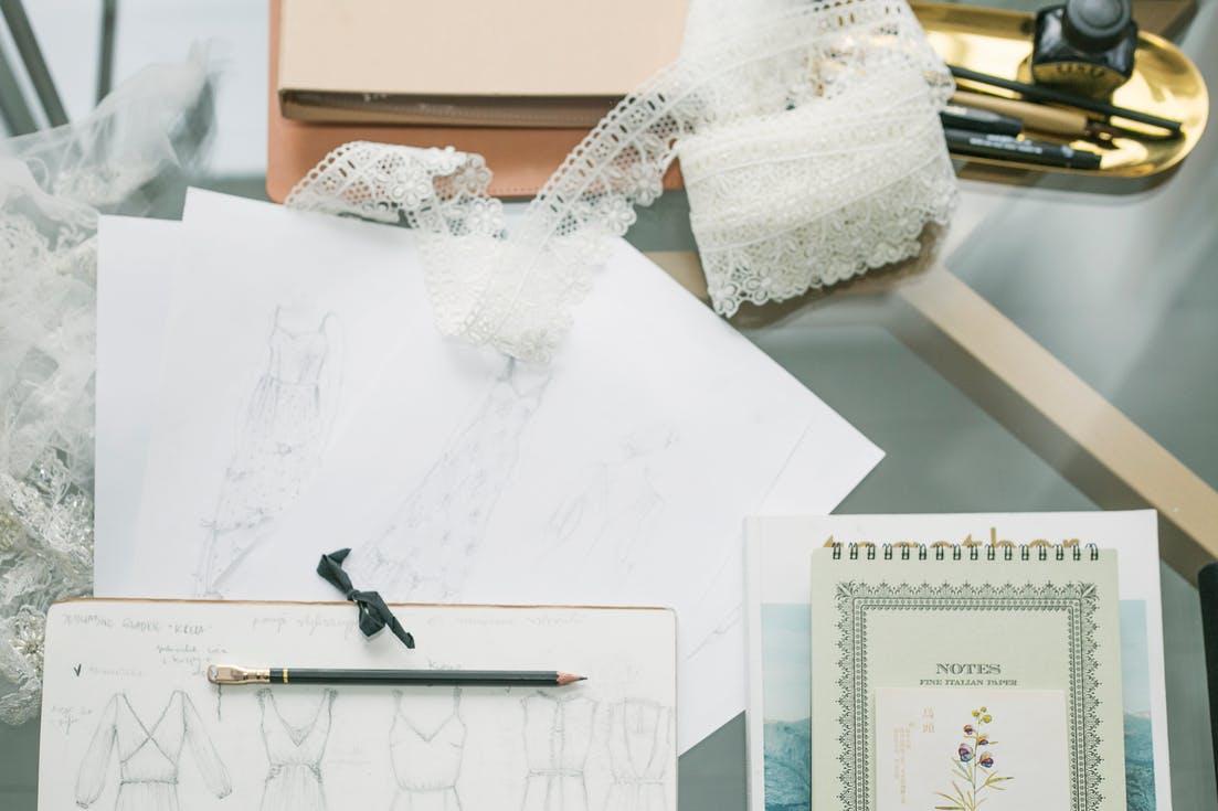 indywidualny projekt sukni ślubnej