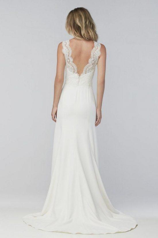 Suknie ślubne z dekoltem na plecach - zdjęcie 3