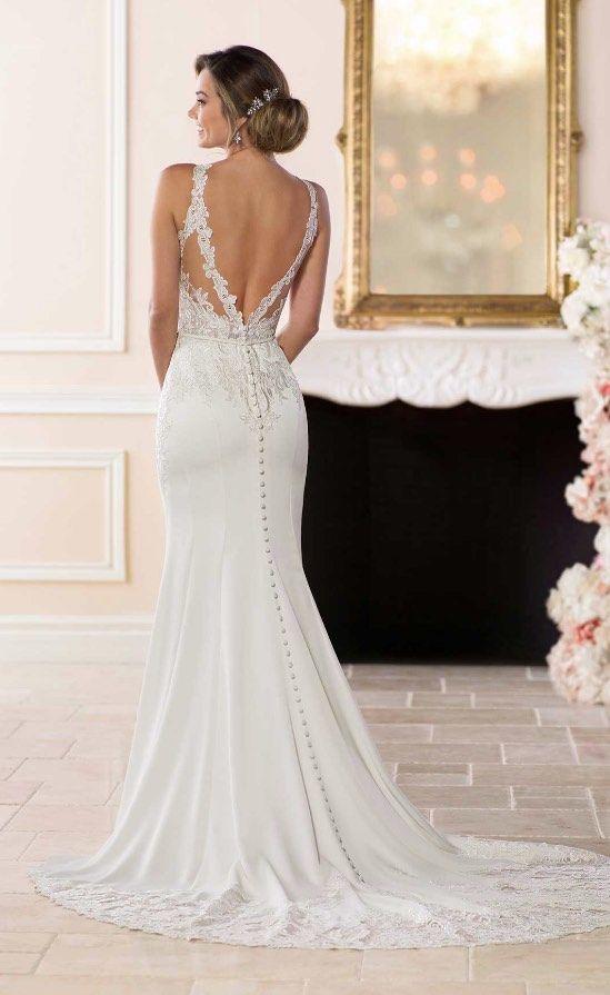 Suknie ślubne z dekoltem na plecach - zdjęcie 7