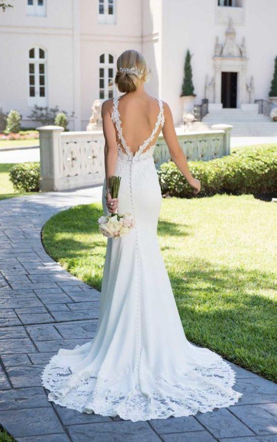 Suknie ślubne z dekoltem na plecach - zdjęcie 8