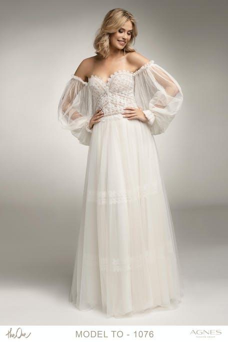 suknia ślubna z długim rękawem na lato