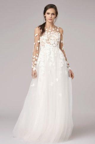 Suknie ślubne długi rękaw trendy 2020