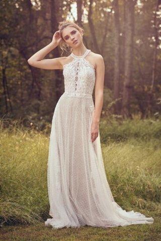 Suknie ślubne wiązane na szyi 2020