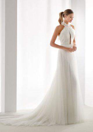 Suknie ślubne z dekoltem halter 2020