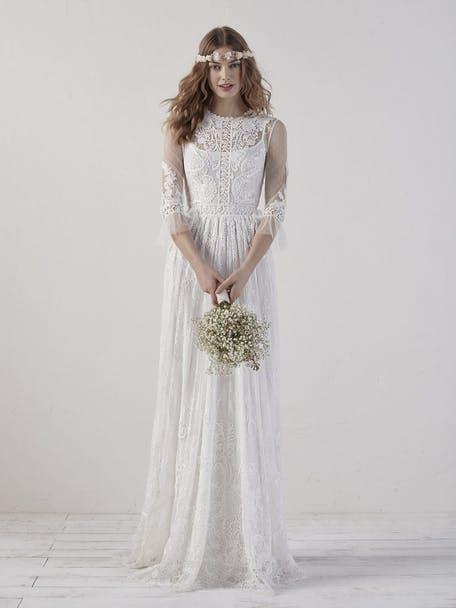 Suknie ślubne w stylu lat 70. - trendy 2020