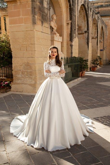 Suknie ślubne z długim rękawem trendy 2020