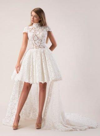 Suknie ślubne krótkie z przodu, długie z tyłu 2020