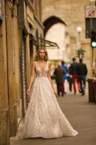 Suknie ślubne błyszczące 2020