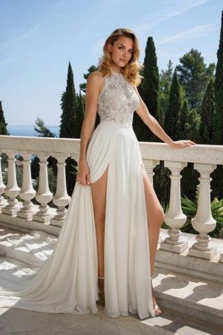 Suknie ślubne z dwoma rozporkami 2020