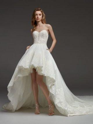 Suknie ślubne dłuższe z tyłu 2020