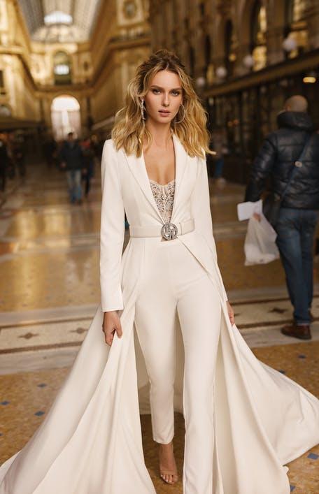 Suknie ślubne z marynarką 2020