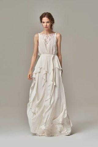 Suknie ślubne z falbankami 2020