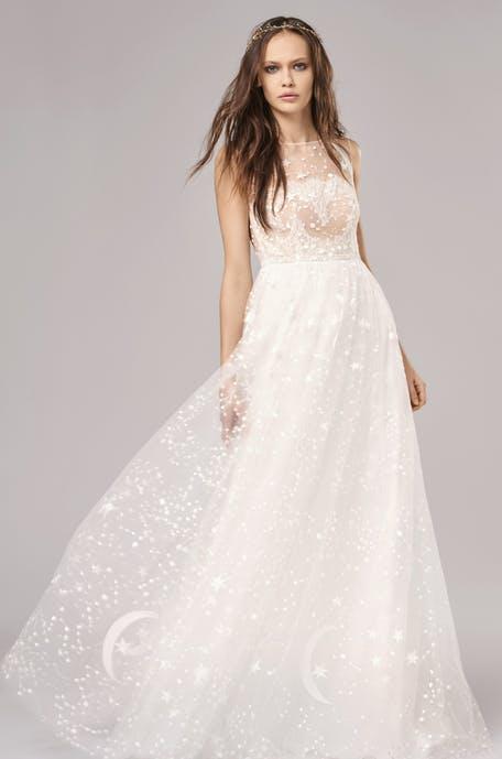 Suknie ślubne zdobione gwiazdkami 2020