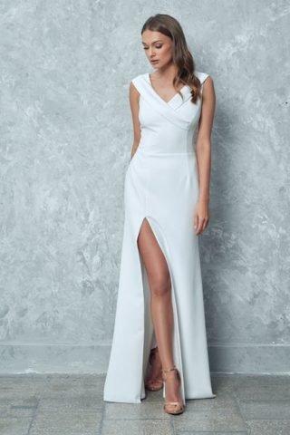 Suknie ślubne z rozporkiem po boku 2020